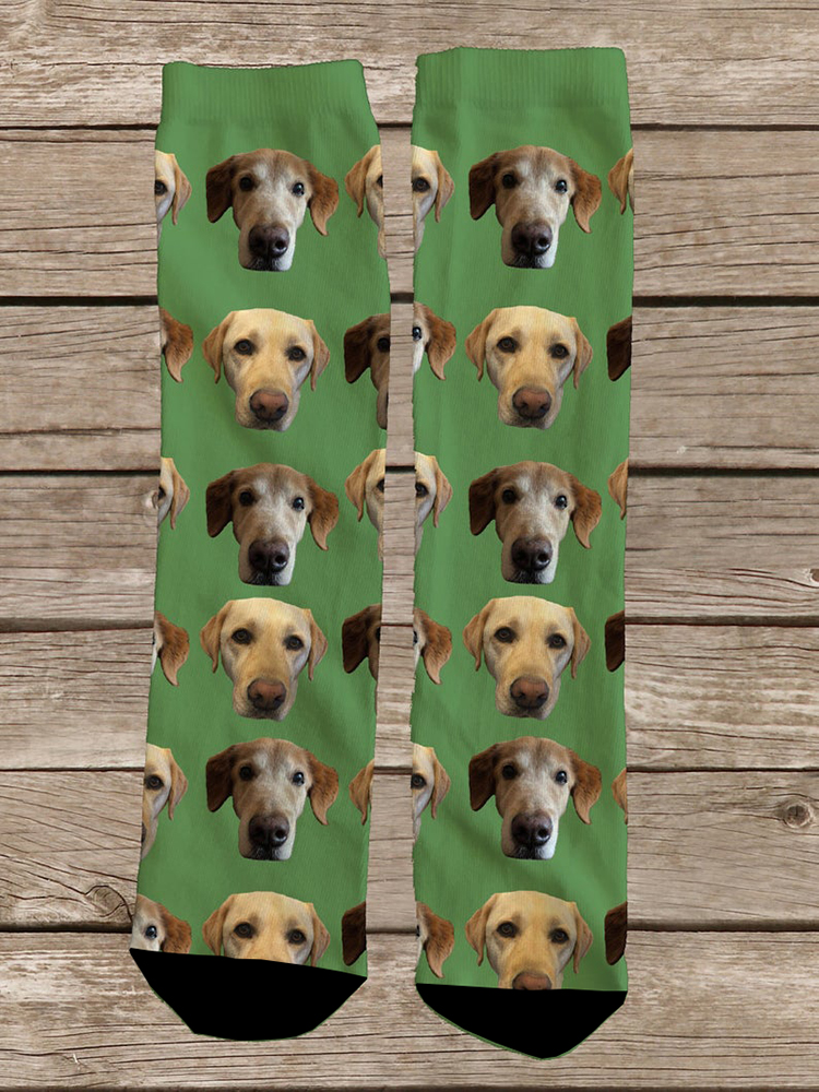 3D Printed Custom Dog Face Socks Personalized Dog Socks Custom Dog Birthday Gifts Dog Lover Socks Christmas Gift Women Men Sock