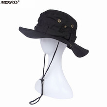 Outdoor Sports Bonnie Hat Breathable Hunting Fishing Wide Brim Cap Sunshade Climbing Camping Hat Foldable Army Tactical Cap
