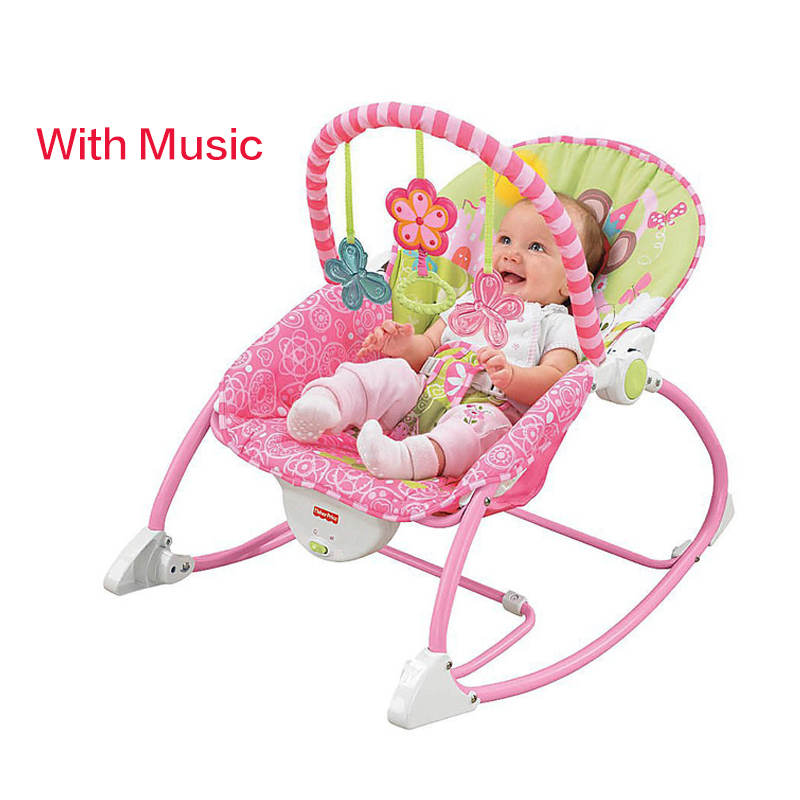 Multi-function Baby Rocking Chai Infant Shaker Music Recliner Swing Chair Can Ajustable With Toys Metal Chair 0-36month