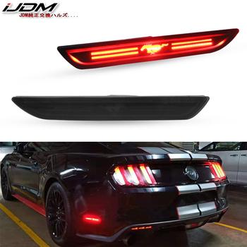 IJDM LED tylna boczna lampy obrysowe w czerwony koń logo LED światła dla 2010-2018 Ford Mustang wymienić OEM powrót Sidemarker lampa tanie i dobre opinie Turn Signal 300Lm T10 (W5W 194) 12 v FR3Z-15A201-A FR3Z15A201A FR3Z-15A101-A 150g Direct Fit Sidemarker Lamp Replacement