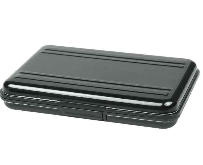 NEW Portable Black Aluminum Memory Card Case 16 Slots (8+8) For Micro SD SD/ SDHC/ SDXC Card Storage Holder New Card Case