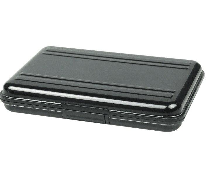 Nouveaux étuis de carte mémoire portables en aluminium noir 16 fentes (8 + 8) pour Micro SD SD/SDHC/SDXC titulaire de stockage de carte nouveau étui de carte