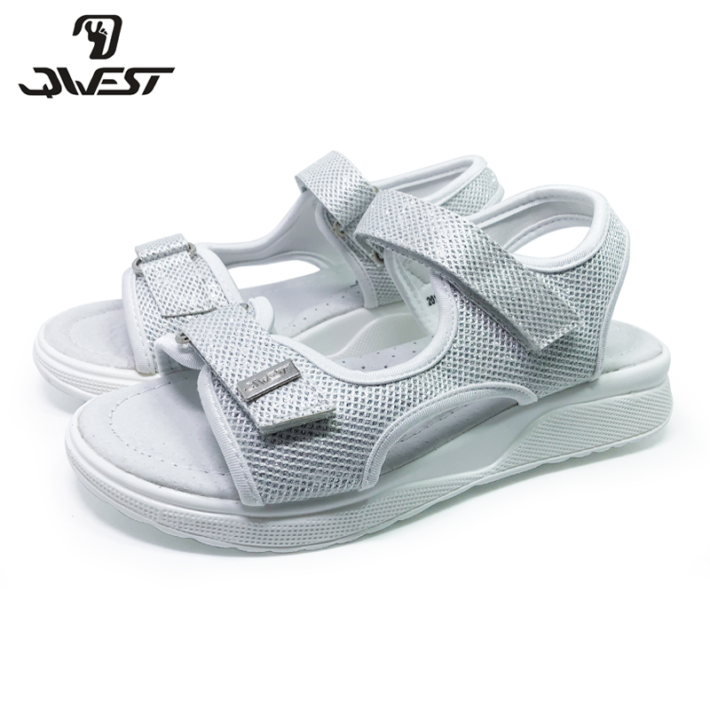 FLAMINGO 2020 Brand Cut-Outs Summer Hook&Loop Casual Sandals Leather Insole Pricness Outdoor Shoes Flat  SIZE 33-38#201S-SS-1684