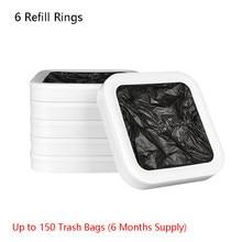 T1 tair inteligente lata de lixo substituição original sacos de lixo 6/12 recarga anéis embalagem automática e mudando sacos de xiaomi youpin