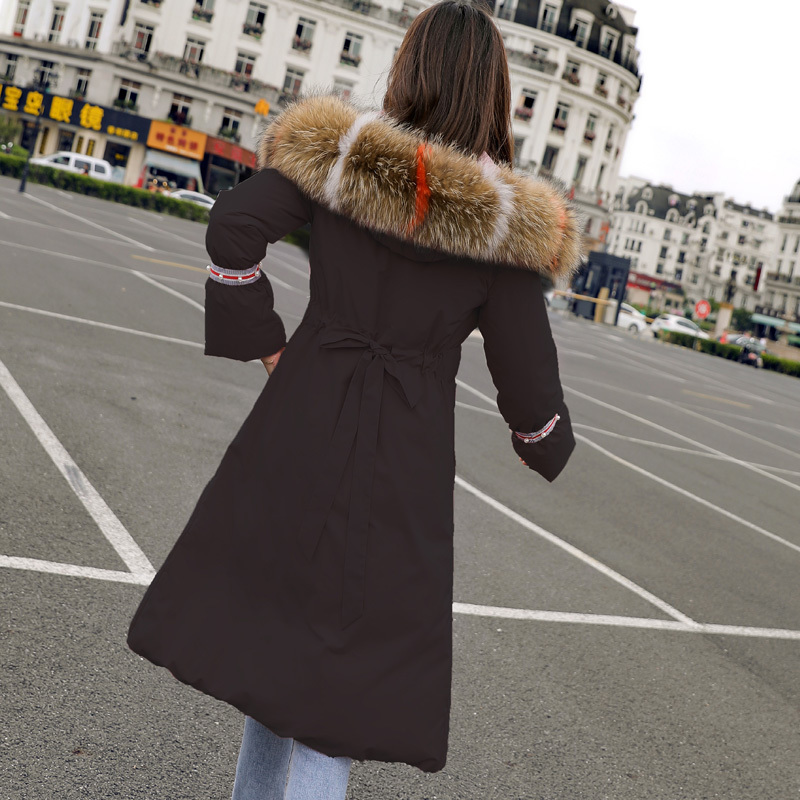 Winter Female Jacket Thick Warm Women's Down Jacket Large Fox Fur Hooded Clothes 2020 Korean Duck Down Coat Hiver 56207