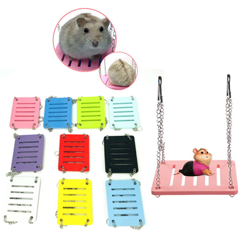 Hamster Swing Baby Hamster House Golden Bear Hamster Toy Hamster Cage Pet Accessories Hanging Bed Hamster Hammock  Props Pet Toy