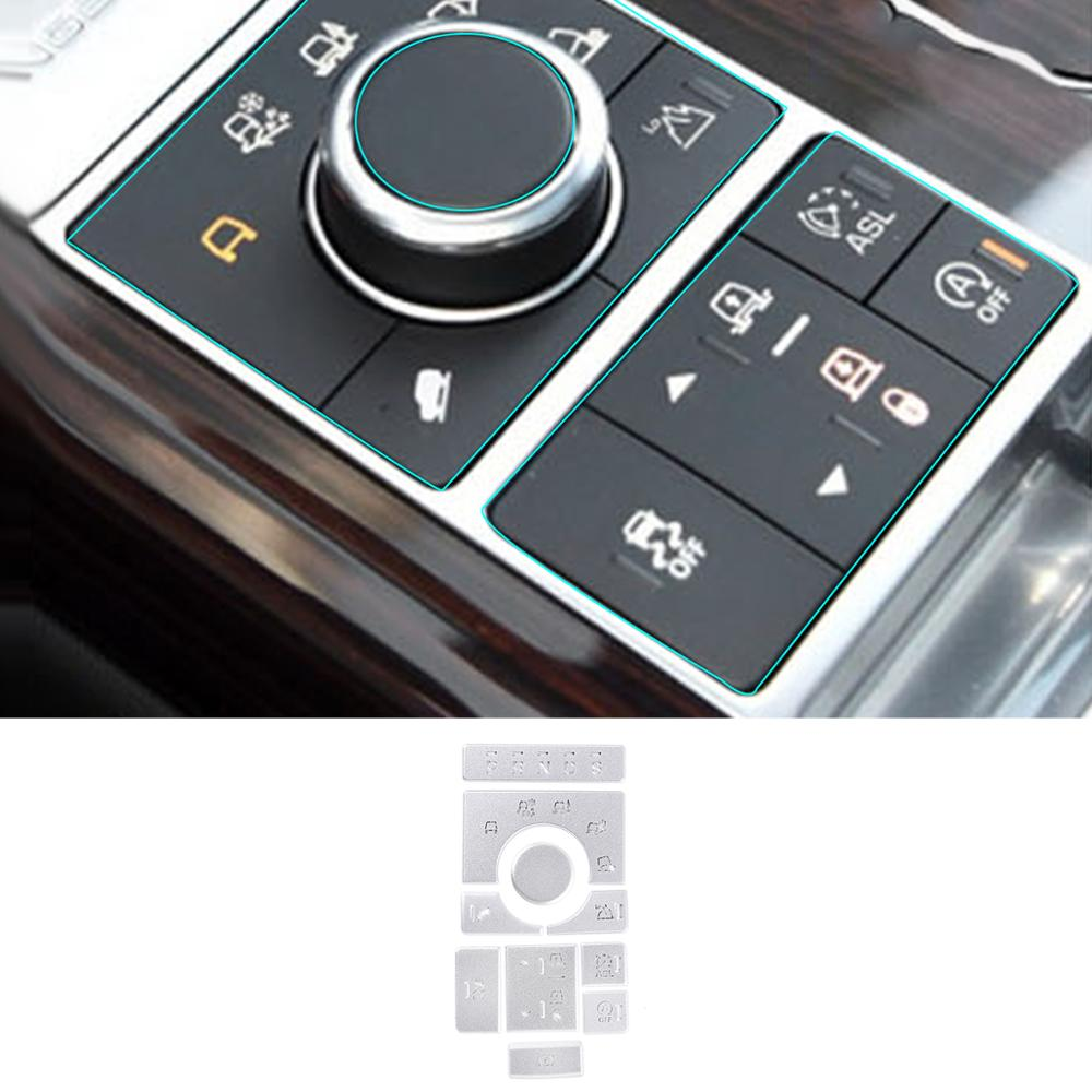 For Land Rover Range Rover Vogue 2015-2016 Aluminum Alloy  Center Console Mode Adjustment Button Sequins Car Accessories 10 Pcs