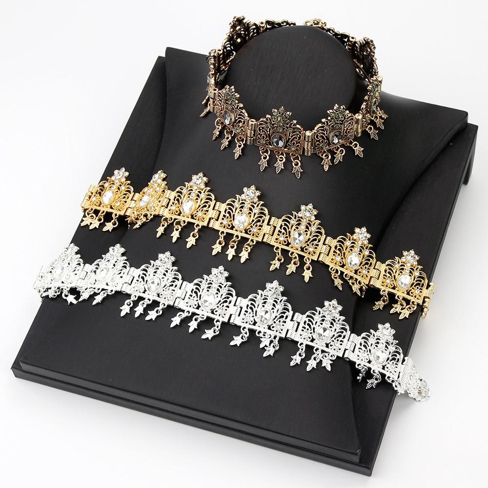 Sunspicems Algeria Jewelry Headband Bride Crown Head Dress Bridal Tiara Princess Queen Diadem Party Wedding Hair Bijoux Gift
