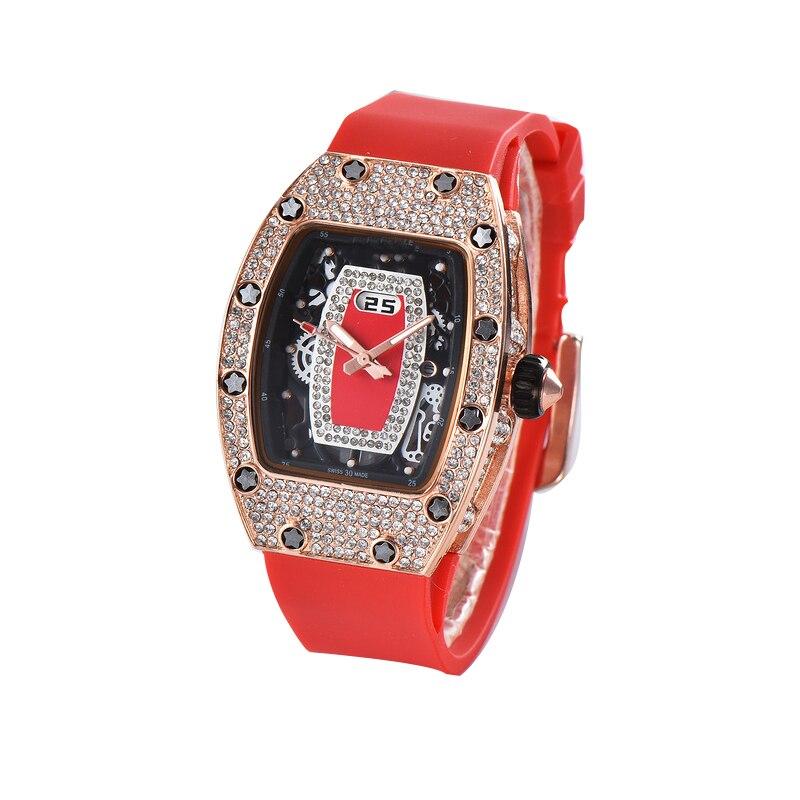 2020 Silicone Black DZ Digite S Watch Rlo Dz Auto Date Week Display Luminous Diver Watches Stainless Steel Wrist Gift Male Clock