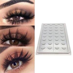 16 par/zestaw 3D rzęs pudło do pakowania witryna na kosmetyki do makijażu plastikowy pojemnik rzęsy próbki katalog szczepienia rzęs karta