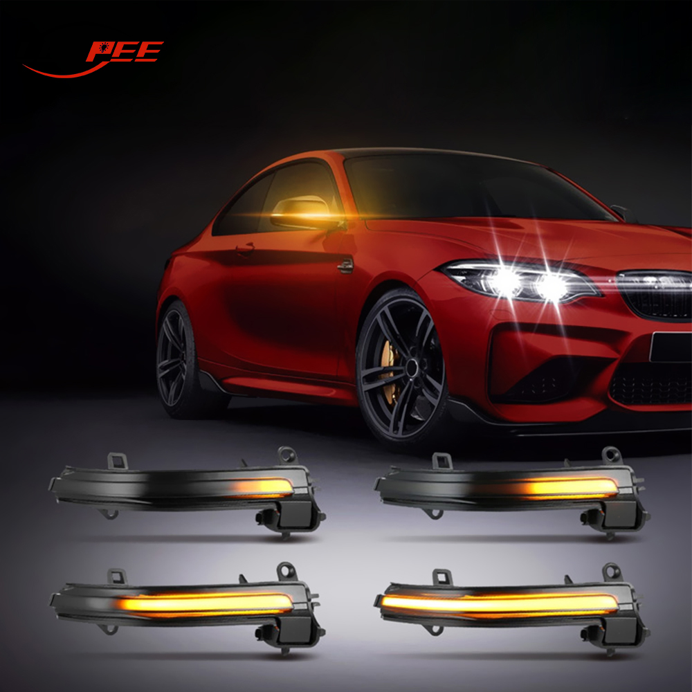 LEEPEE Car LED Turn Signal Light For BMW 3 Series F20 F21 F30 F80 F82 X1 E84 E90 I3 Blinker Side Wing Rearview Mirror Indicator image
