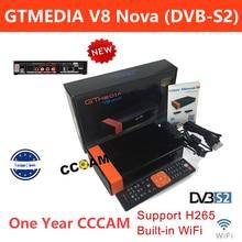 GTMedia V8 Nova Satellite Receiver DVB-S2 H.265 Built-in WiFi with 1 Year Spain Europe Cccam GTmedia NOVA V9 Super Receptors