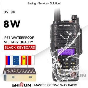 Image 1 - 8W Baofeng UV 9R IP67 להקה 136 174/400 520MHz חם רדיו 10 KM Baofeng 8W מכשיר 10 KM UV 9R UV 82 UV XR