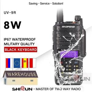Image 1 - 8W Baofeng UV 9R IP67 للماء المزدوج الفرقة 136 174/400 520MHz هام الراديو 10 كجم Baofeng 8W أجهزة اتصال لاسلكية 10 كجم UV 9R UV 82 UV XR