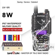 8W Baofeng UV 9R IP67 Impermeabile Dual Band 136 174/400 520MHz Ham Radio 10 KM Baofeng 8W Walkie Talkie 10 KM UV 9R UV 82 UV XR