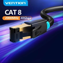 Vention Cat8 câble Ethernet RJ45 SSTP câble de raccordement 40Gbps RJ 45 câble Lan pour ordinateur portable routeur Modem PC Cat7 câble Ethernet