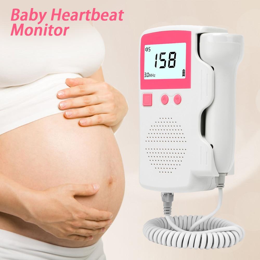 3.0MHz Doppler Foetale Hartslagmeter Thuis Pregancy Baby Foetale Geluid Hartslag Detector Lcd-scherm Geen Straling