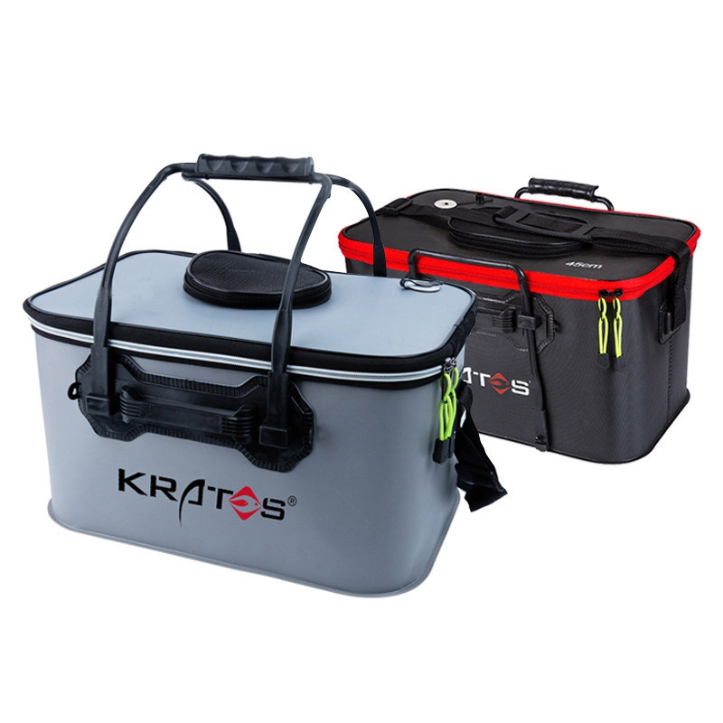 Folding Wear resistant EVA Fishing Bucket Live Fish Bag Portable Outdoor Sports Fishing Tackle Boxes pesca For Hiking Fishing|Fishing Bags| |  - title=