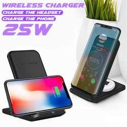 Support de chargeur sans fil rapide 25W pour S10 Plus Note 10 10W pour Huawei Xiaomi XR X XS Max 8 S9 S8 charge par Induction