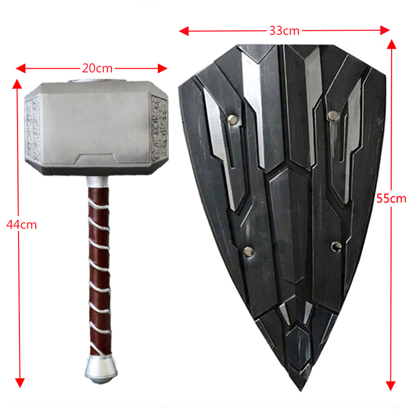 1: 1 Scale Toys  Thor Hammer Thor Hammer Thor Thor Custome Cosplay Props Hammer Stage Property PU & Foam Kids Gift 44CM