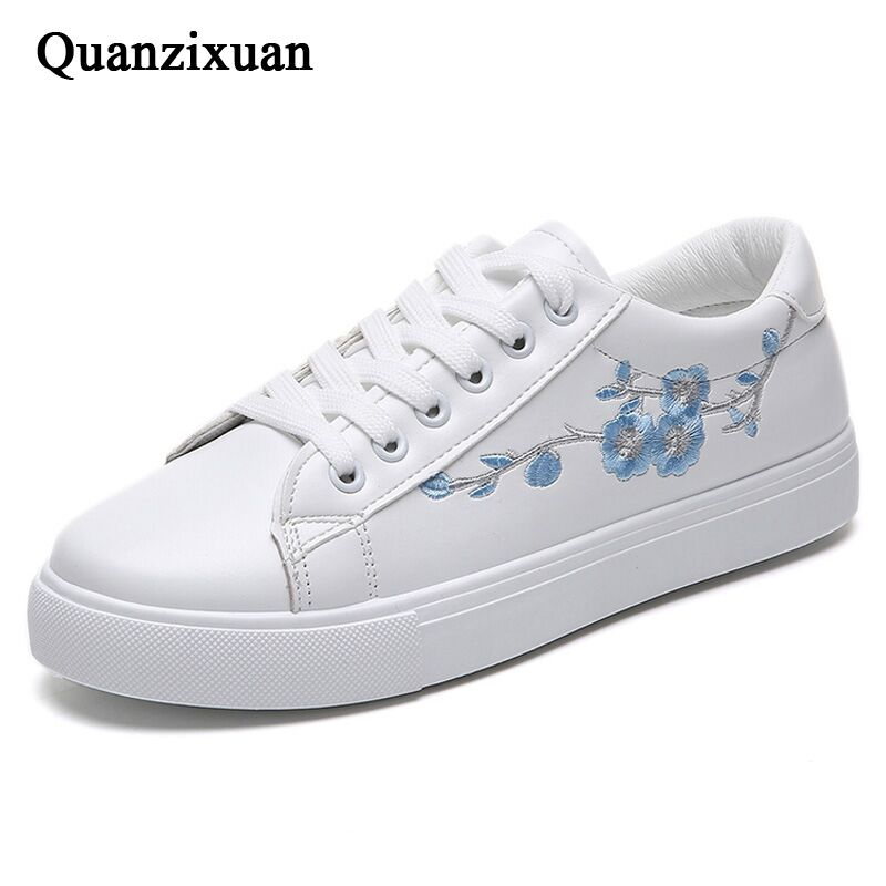 White Sneakers Spring Women Vulcanize Shoes PU Leather Shoes Women Casual Shoes Platform Sneakers Female Flats Tenis Feminino