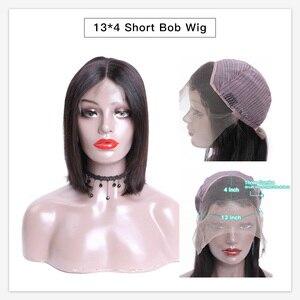 Image 5 - Monstar 13x6 레이스 정면 브라질 스트레이트 레미 자연 색상/1B 613/613 금발 짧은 밥 레이스 프런트 인간의 머리 가발 여성을위한