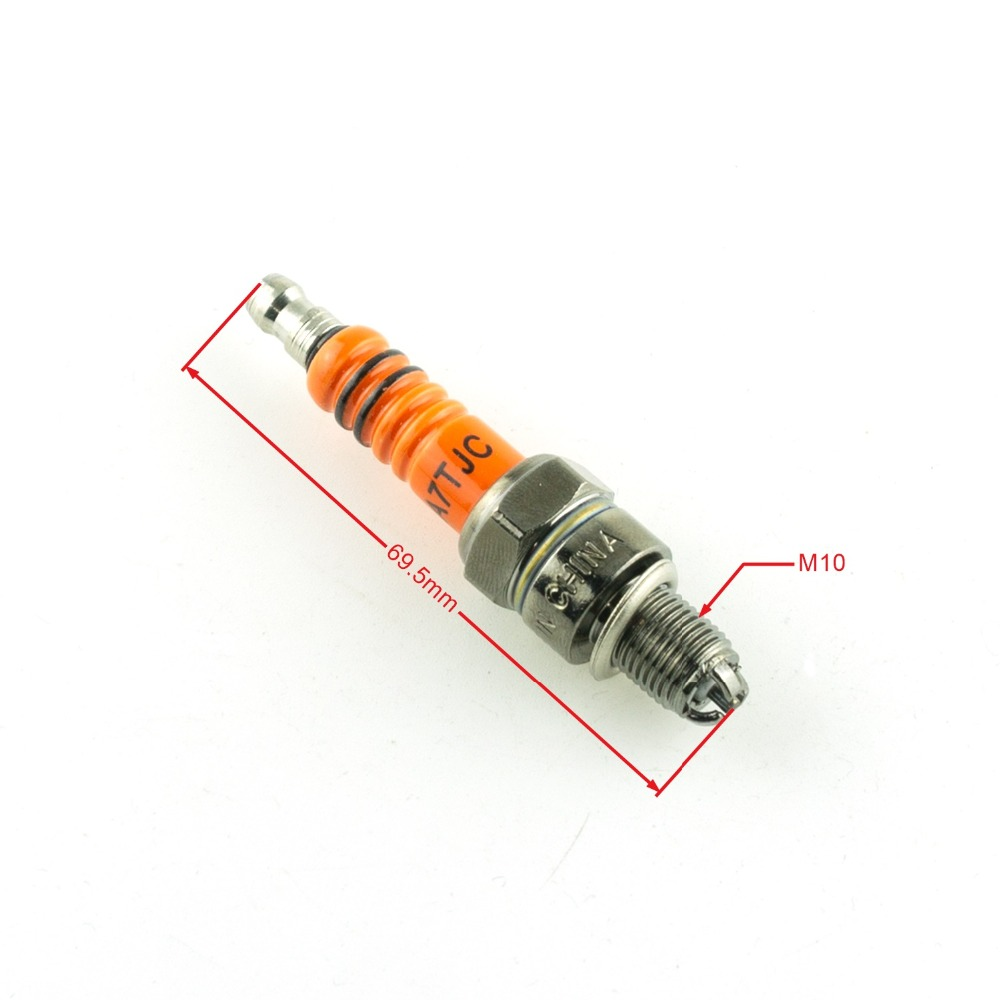 Motorcycle A7TC A7TJC Spark Plug 3 Electrode For GY6 50to125cc Moped Scooter