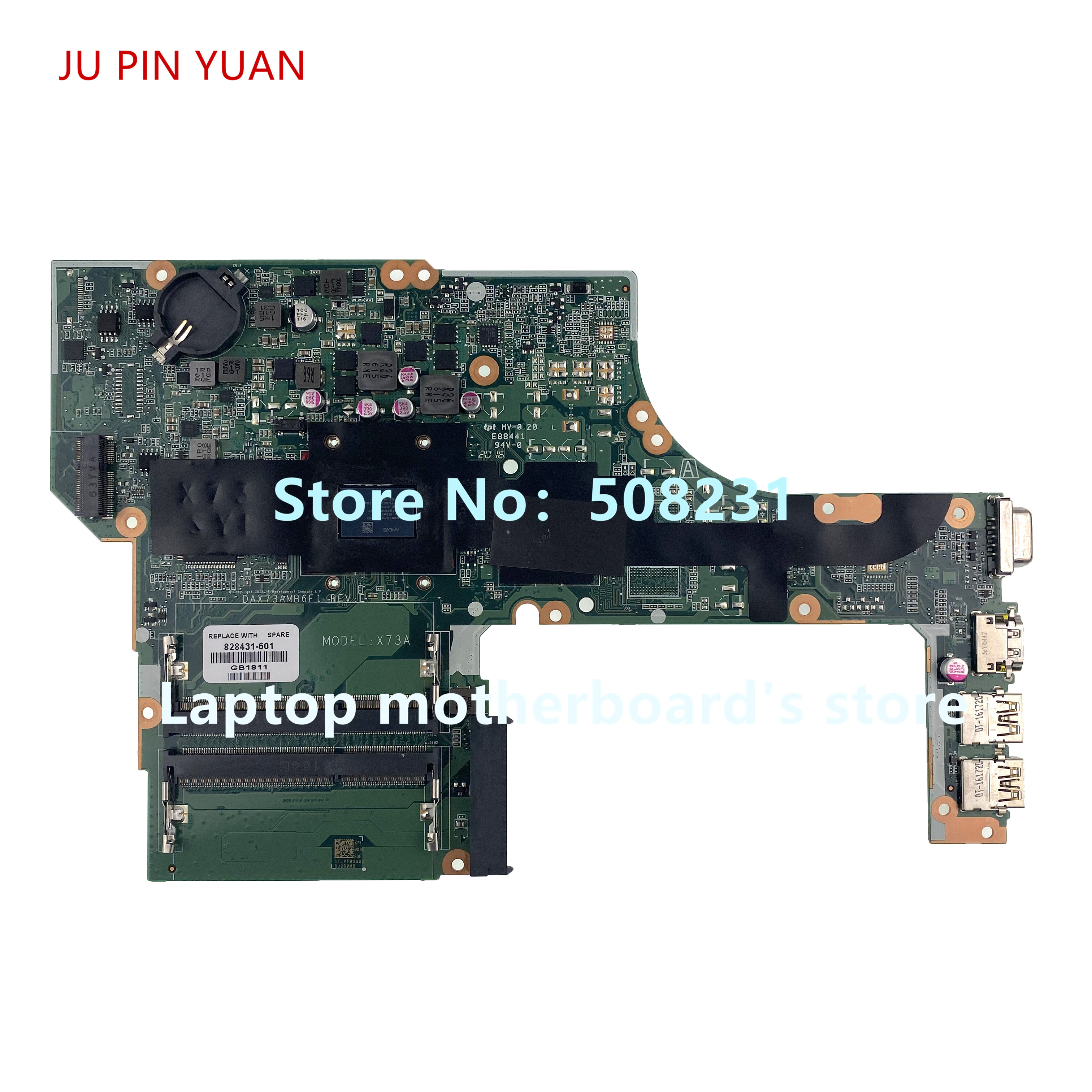JU PIN YUAN 828431-001 828431-601 DAX73AMB6E1 For <font><b>HP</b></font> probook <font><b>455</b></font> G3 Laptop <font><b>Motherboard</b></font> DDR3 A10-8700P CPU 100% fully Tested image