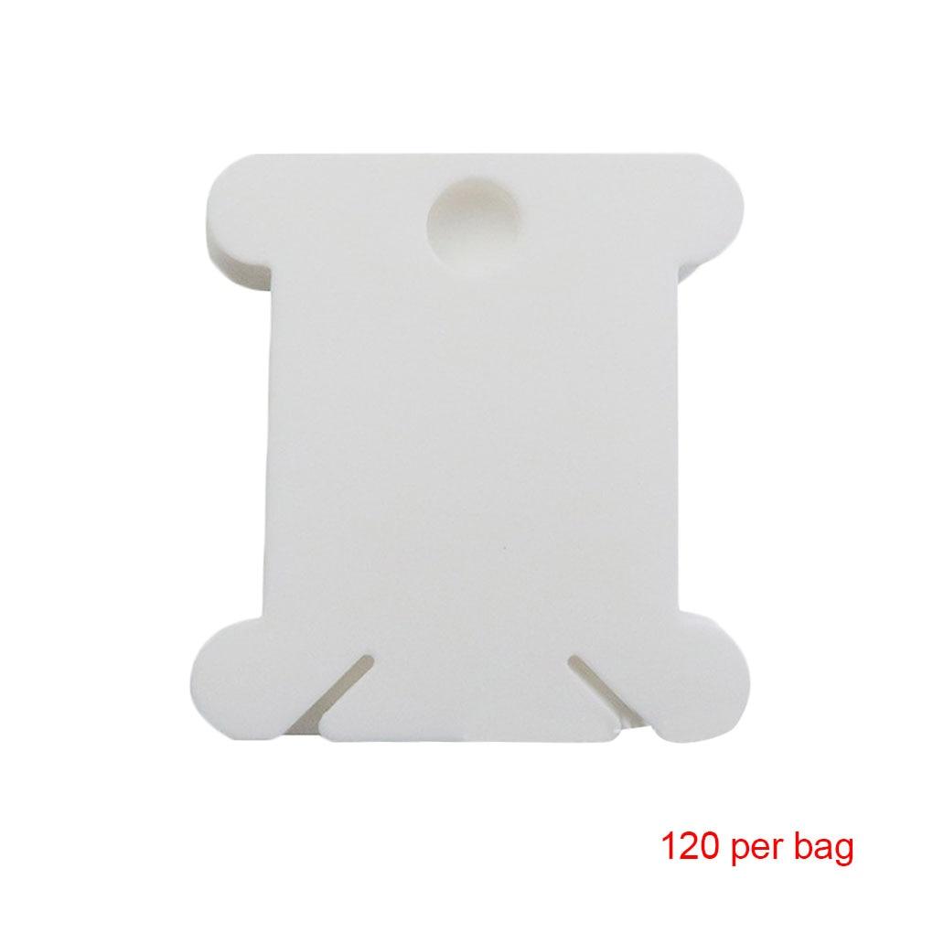 50 piezas Punto de cruz placa de enrollado de pl/ástico Herramienta de punto de cruz Placa de enrollado Herramienta de acabado de hilo de bordado