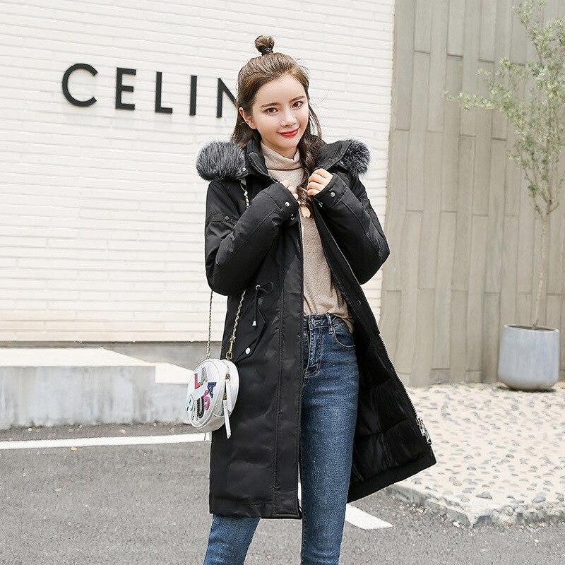 Waist-Controlled Plus Size Women   Down     Coat   2019 Fashion Winter Womens Outwear Warm Slimming   Down     Coat   Female Solid Zipper   Coats
