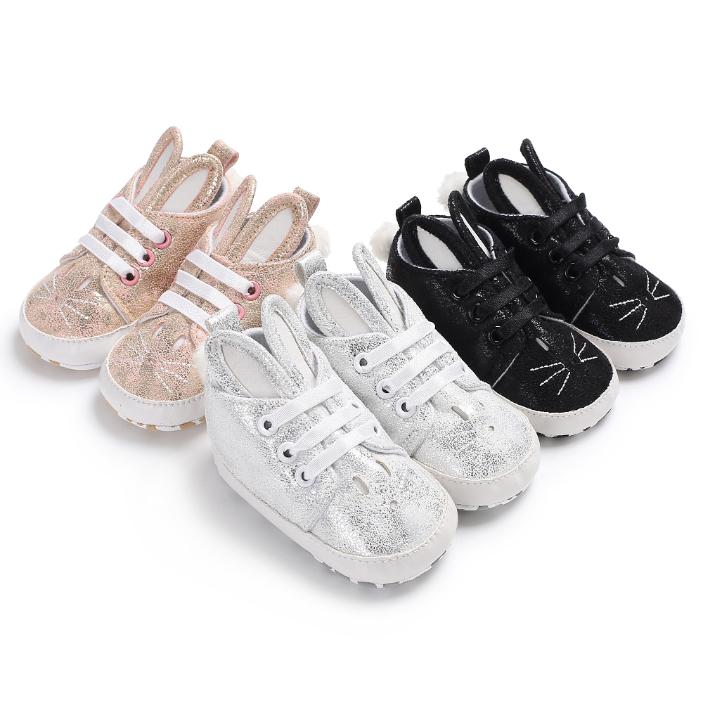 2019 Brand New Newborn Toddler Infant Boy Girl 0-18M Soft Sneaker Rabbit Ears Baby Shoes Toddler Boots Cute Bunny Shoes 0-18M