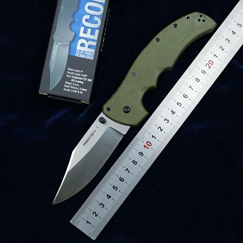 Newest RECON 1 G10 Handle Mark CTS XHP Blade Folding Pocket Survival EDC Tool kitchen camping hunt Tactical outdoor knife