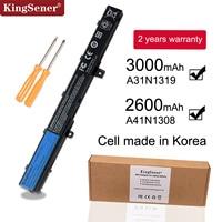KingSener Korea Zelle A31N1319 A41N1308 Batterie für ASUS X451 X551 X451C X451CA X551C X551CA X551M X551MA A31LJ91 0B110 00250100|new laptop battery|laptop batterybattery for asus -