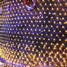 Thrisdar 2x2 м 3x2 м 6x4 м Рождественский светодиодный сетчатый Сказочный струнный светильник 8 функций наружные вечерние свадебные праздничные Гир...