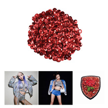 1000pcs 6mm DIY Round Sequins Paillettes Sewing Wedding Craft Clothes Shoes Bag Sparkling Accessory (Red)
