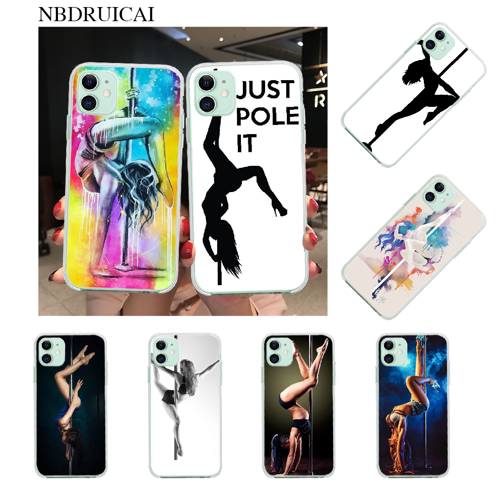 NBDRUICAI Pole dance dancing Fitness Coque Shell Phone Case for iPhone 11 pro XS MAX 8 7 6 6S Plus X 5S SE XR cover