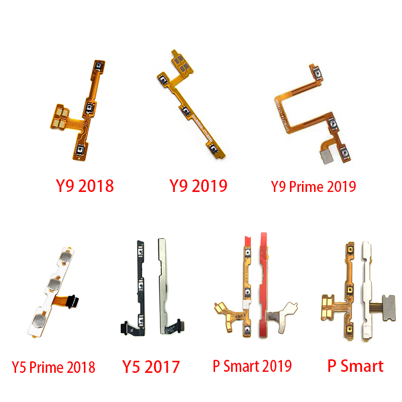 Power Switch On/Off Button Volume Key Button Flex Cable For Huawei Y5 Y6 Y7 Pro Y9 Prime 2017 2018 2019