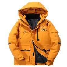 High Quality Down Jacket Keep Warm Men #8217 s Winter Thick Snow Parka Overcoat Camouflage White Black Duck 2019New Fashion 1909 cheap JUNGLE ZONE Thick (Winter) L1909 REGULAR Casual zipper Full Solid Denim NONE Button Pockets Zippers Appliques Polyester