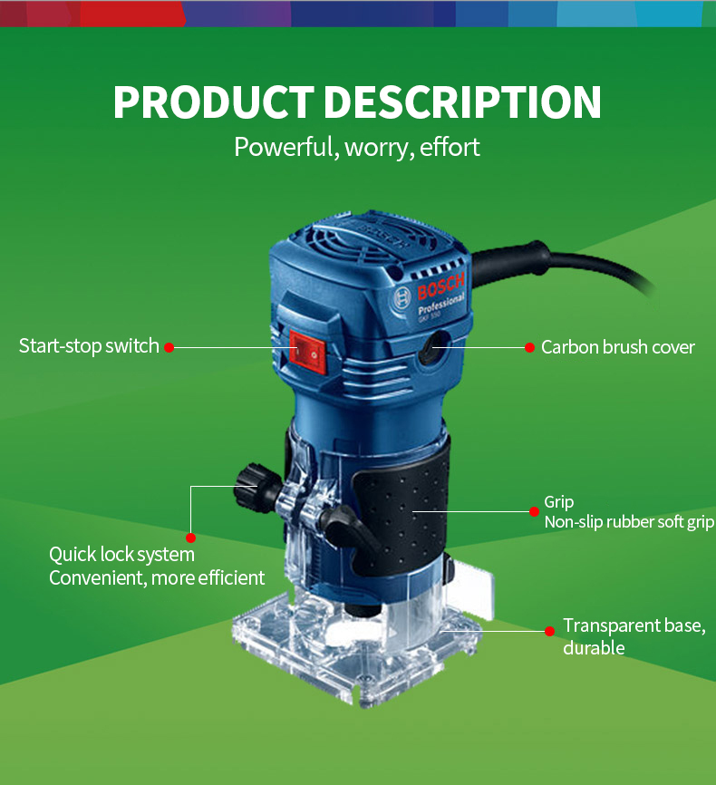 Bosch 550W Woodworking specifications