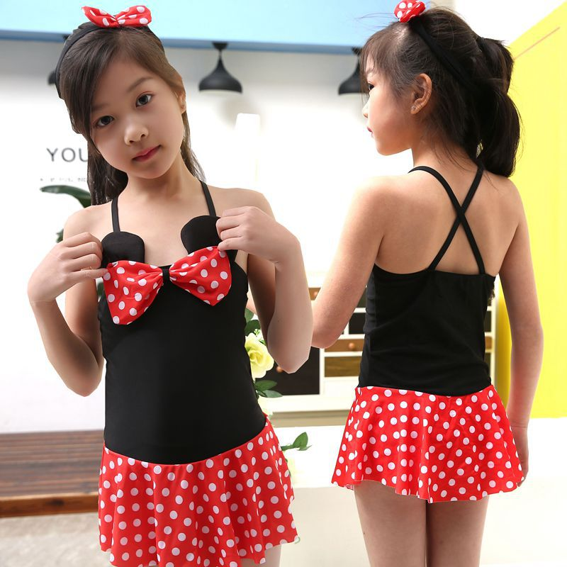 New Style KID'S Swimwear Girls Korean-style Dress-Middle And Large Children Princess Students South Korea GIRL'S Swimwear Direct