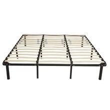 Karyola iskeleti karyola ahşap yatak çıta ve sağlam Metal demir standı kral/kraliçe/tam 3 boyutu siyah 79x75x14CM [abd stok]