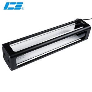 Image 1 - IceMan Cooler 360mm Square Glass Reservoir Water Tank  5v 3pin ARGB Light Strip Motherboard Control Silver ,Black