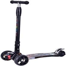 Kick-Scooter LIKU 3-Wheel Girls for Kid Led-Lights Graffiti Lean-To-Steer-Wheel Toddler