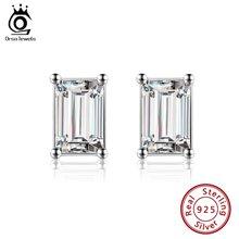 Orsa jewels серьги гвоздики для женщин из стерлингового серебра