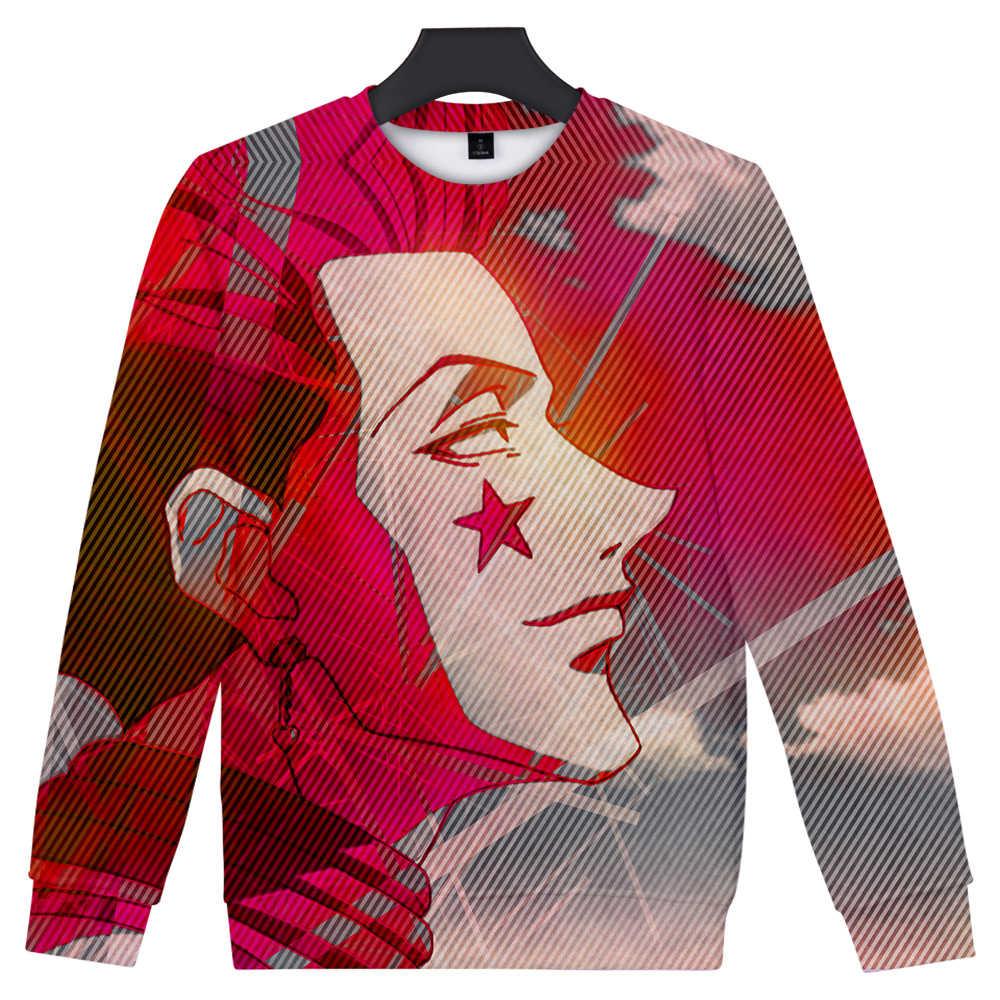 귀여운 헌터 헌터 hisoka 데스 포켓 trui truien mannen/vrouwen 인쇄 3d 운동복 karakter hoodie trainingspakken 인기