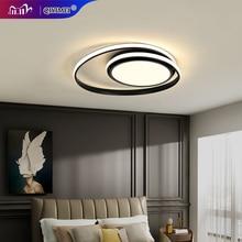 Luzes de teto modernas lâmpada led para sala estar quarto estudo branco cor preta superfície montado lâmpada do teto deco AC85 265V