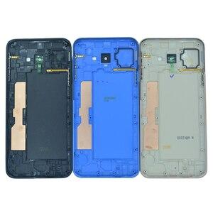 Задняя крышка корпуса для Samsung J4 Core J410 J410F, новый оригинальный корпус для телефона, средняя рамка с задней крышкой для аккумулятора