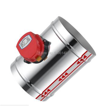 80-250mm przepustnica powietrza ze stali nierdzewnej HVAC elektryczny przewód powietrzny zmotoryzowany amortyzator do zaworu wentylacyjnego 220V zawór powietrza tanie i dobre opinie Regulacji 76 80 100 125 150 200mm Niskie ciśnienie Standardowy Bez konieczności Ręcznego I Instrukcji Elektromagnetyczny