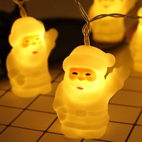 Silicone Santa Claus Christmas Tree LED Garland String Lights Christmas Decoration for Home 2019 Christmas Ornaments New Year|Lighting Strings| |  -