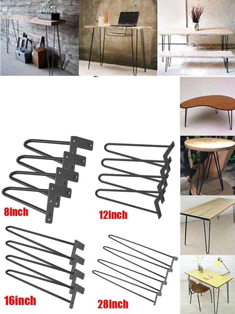 Furniture-Legs Laptop Table Metal Iron Anti-Scratch Solid 4pcs/Set 8/12/16/28inch